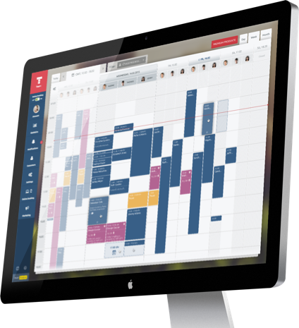 Desktop with calendar