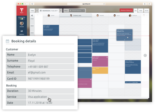 calendario timify