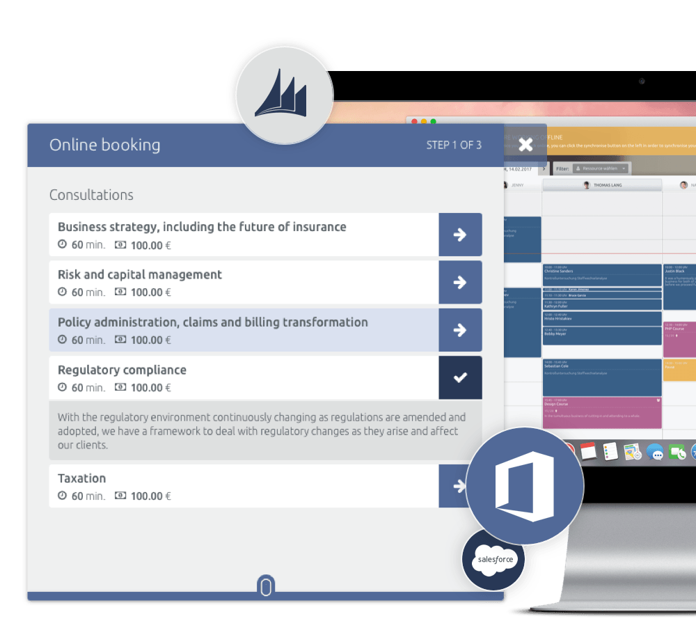 solución personalizable de gestión de citas