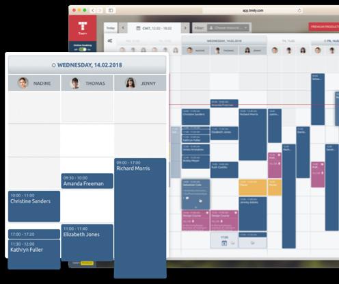 Calendar weekly view