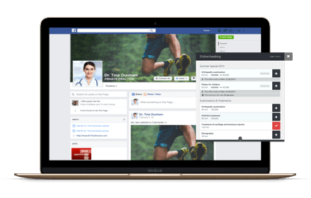 Online afspraakboeking van Facebook