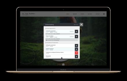 Widget de réservation de rendez-vous pour votre site web