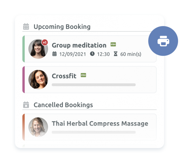 Bookings overview