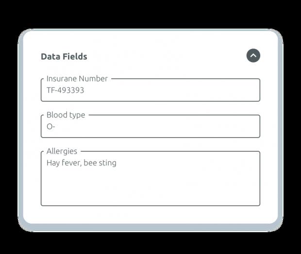 Gestión de campos de datos