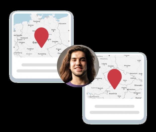 Nutzer mit mehreren Standorten