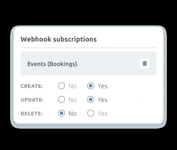 Webhooks en tiempo real