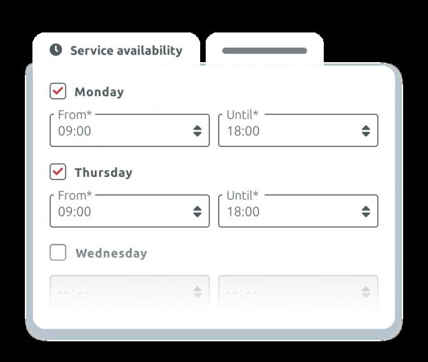 Scheduled service booking
