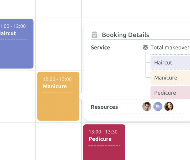 Service combination booking