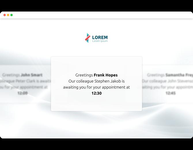 Welcome Screen App