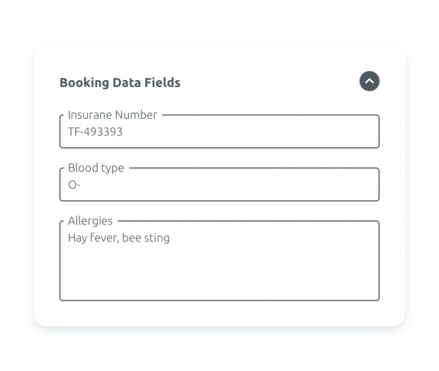 Custom booking forms