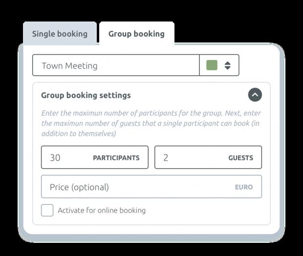 Eventos y reservas grupales