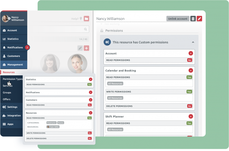 permissions management timify