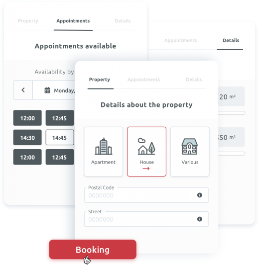 Acquisitions schedule meetings directly via your online tools