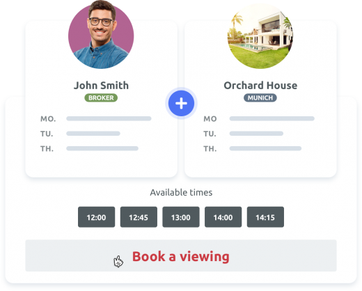 Seamless scheduling for property viewings